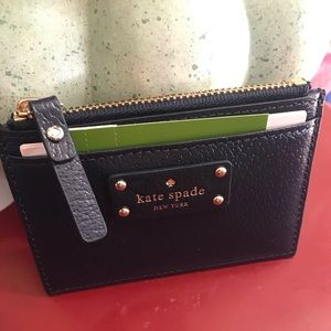 Navy KATE SPADE coin/card wallet